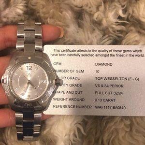 Tag Heuer Aquaracer Silver Diamond Dial